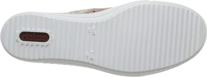 Rieker Damen Fr/ühjahr//Sommer L2814 Slip On Sneaker