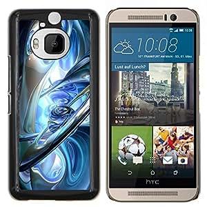 LECELL--Funda protectora / Cubierta / Piel For HTC One M9Plus M9+ M9 Plus -- vidrio tierra azul hielo planetas alienígenas ciencia ficción --