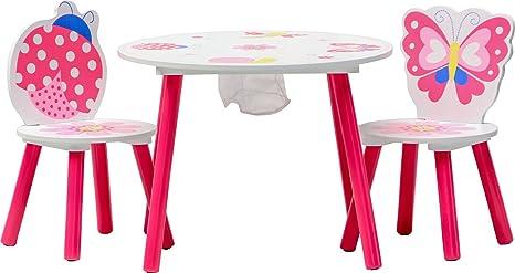 IB-Style - Kindersitzgruppe Truhenbank Spielgruppe PAPILLON   6 Kombinationen   Set: 1 Tisch + 2 Stühle - Stuhl Truhenbank Ki