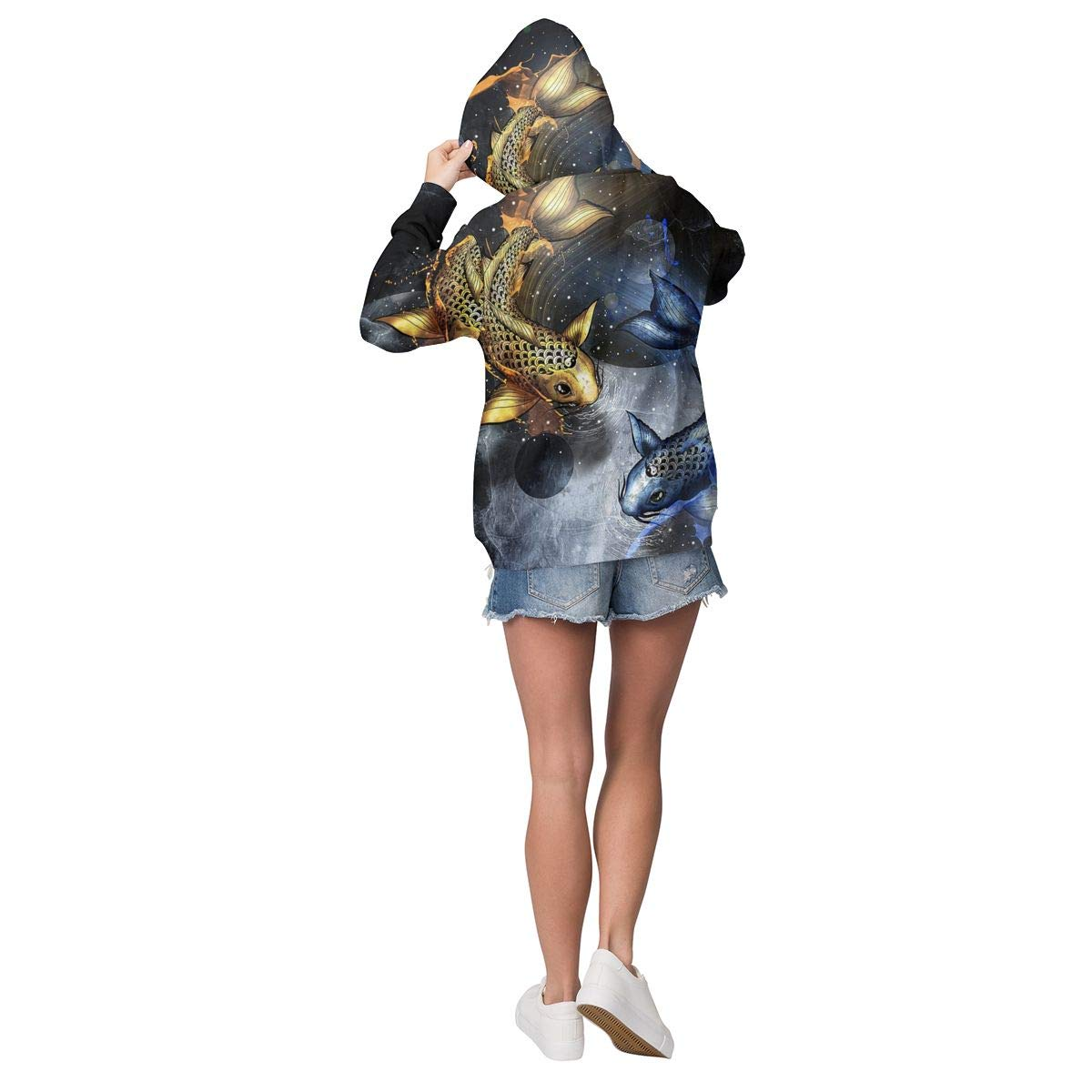 YongColer Casual Pullover Hooded Sweatshirts Streetwear for Girls Women