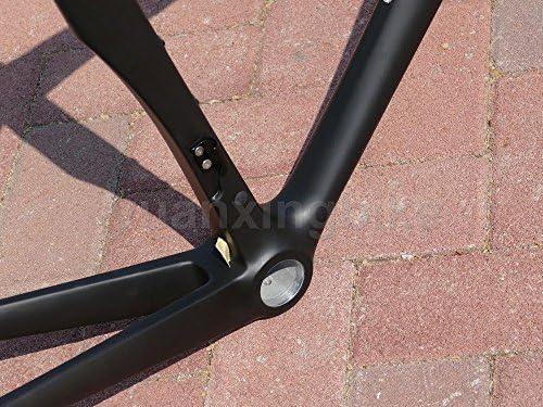 319 # Toray cuadro de carbono completo carbono BSA UD mate para bicicleta de carretera marco 54 cm tenedor sillín móvil: Amazon.es: Deportes y aire libre