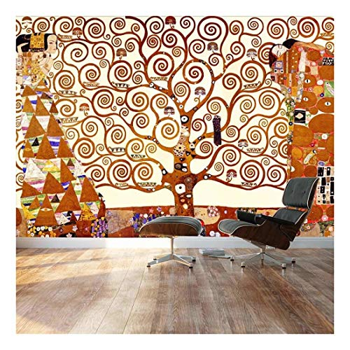 large wall mural classic painting the tree of life by gustav klimt vinyl wallpaper removable. Black Bedroom Furniture Sets. Home Design Ideas
