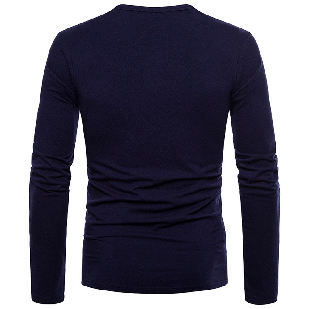 Amazon.com: OrchidAmor Fashion Mens Personality Slim Fit Casual Long Sleeve Solid Shirt Top Blouse: Clothing