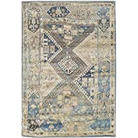 Premium Heavy-Duty Thick Traditional Area Rugs Blue Beige Navy Brown Cream Oriental Rug Distressed Vintage Carpet For Living Rooms on Clearance (Large 8x11)