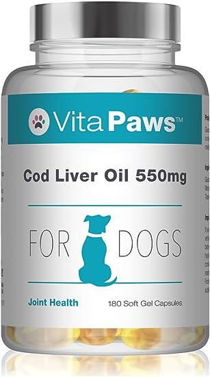Aceite de Hígado de Bacalao 550mg para Perros - 180 Perlas - VitaPaws: Amazon.es: Salud y cuidado personal