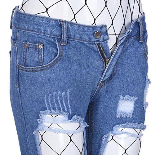 Kvinnor Nätstrumpor Jeans, Kvinna Inkach Mode Flickor Sexiga Fisknät Strumpor Slet Jeans Penna Byxor