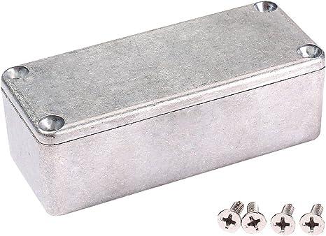 Caja de Efectos Aluminio de Aleación Pisar Pedal con Tornillos para la Guitarra Baja 1590A: Amazon.es: Instrumentos musicales