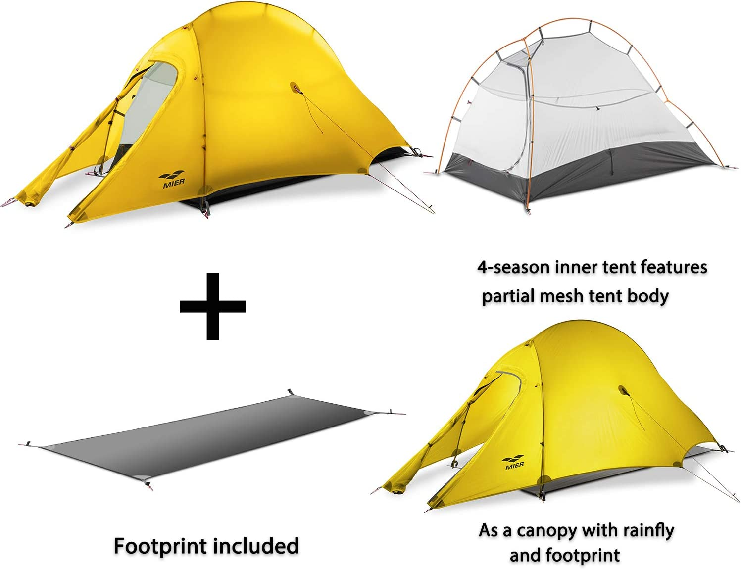 MIER Lightweight 1Person Tent Easy