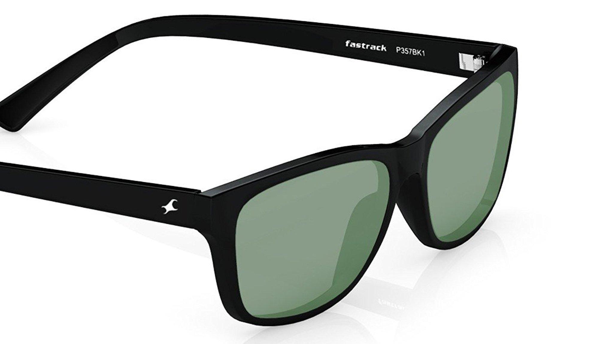 Fastrack UV protected Square Men's Sunglasses (P357BK1|41 millimeters|Smoke (Grey/Black)) product image