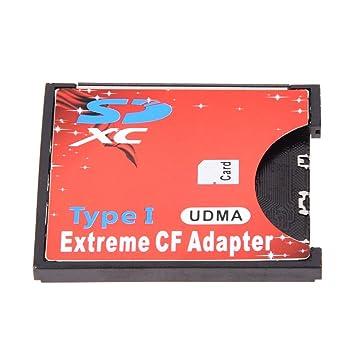 SD adaptador de tarjeta CF - SODIAL(R) Nueva WIFI SD SDHC SDXC de 2 TB Tipo I Tarjeta Compact Flash Adaptador CF