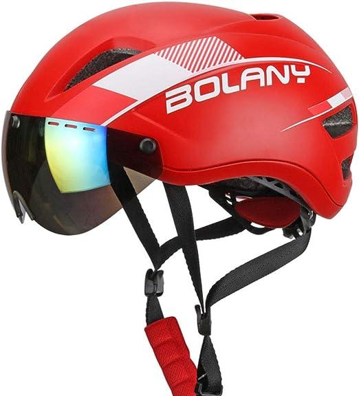 XYL Casco para Bicicleta Gafas de Sol magnéticas Proceso de una Pieza Carcasa de PC Seguridad Protección Adecuado para Bicicleta de Carretera Ciclismo de montaña Hombres y Mujeres,Red: Amazon.es: Hogar