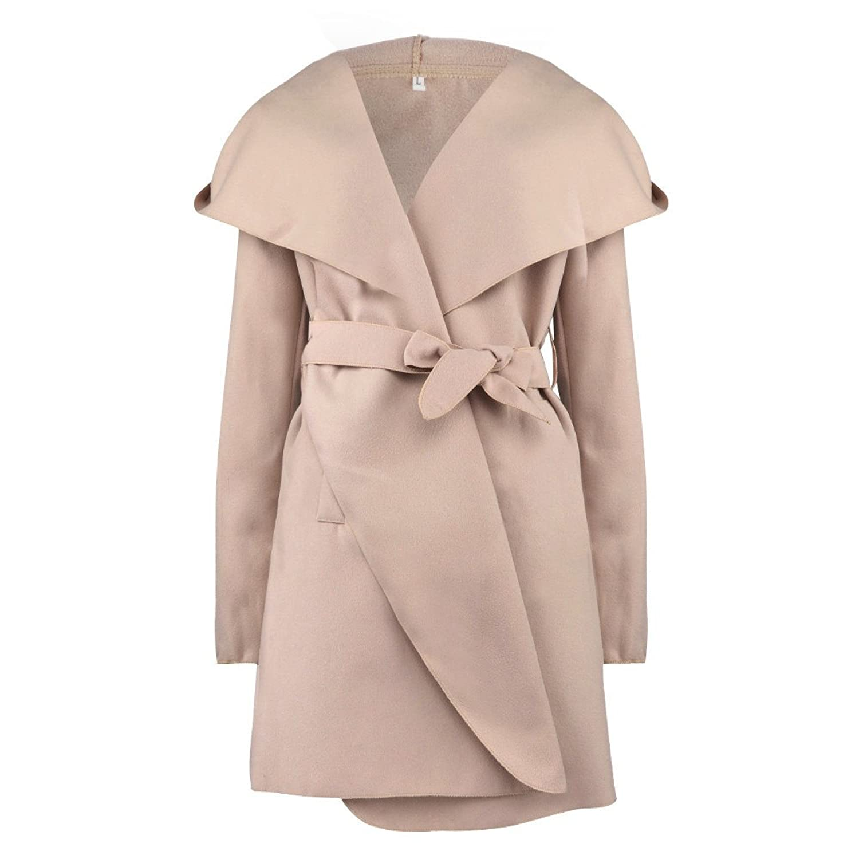 KaiCran Shrug Sweater Overcoat Women Warm Windbreaker Outwear Warm Slim Long Coat Jacket Trench at Amazon Womens Clothing store: