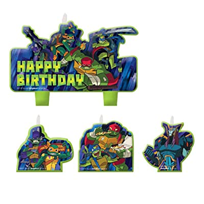 Candle Rise of The Teenage Mutant Ninja Turtles Mini Set (4pc): Home Improvement