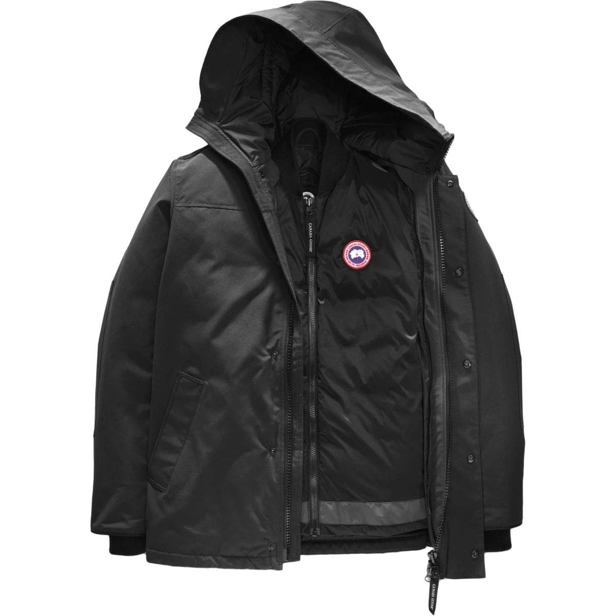 (カナダグース)Canada Goose Garibaldi Down 3-in-1 Parka メンズ ジャケット黒 [並行輸入品] 黒 日本サイズ M相当 (US S)