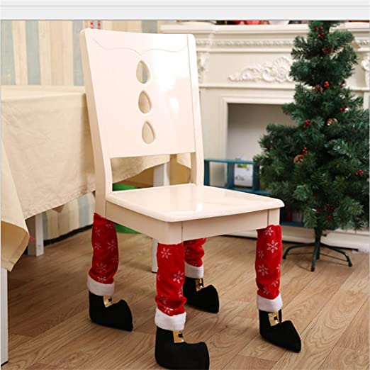 Wuwenw Adornos Navideños Pies De Mesa De Navidad Conjunto De Pies ...