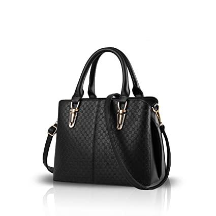 Nicole Doris Fashion Women Handbag Large Bag Retro Handbags Casual Shoulder  Bag Messenger Bag for Women Black  Amazon.co.uk  Shoes   Bags e36c23b71d3a1