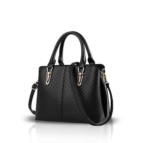 cdaec1eed9 Nicole Doris fashion women handbag large bag retro handbags casual shoulder  bag Messenger bag for women Black
