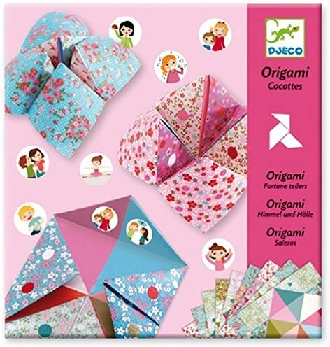 DJECO Fortune Tellers Leve 3 Flowers Origami Paper Craft Kit