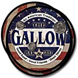 Gallow Bar&Grill Family Name Neoprene Rubber Coasters - 4pcs