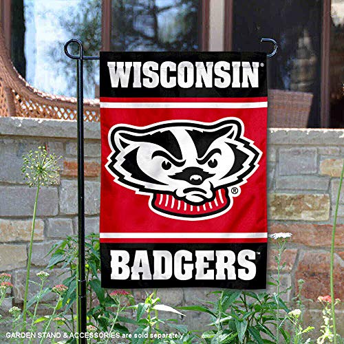 College Flags and Banners Co. Wisconsin Badgers Garden -