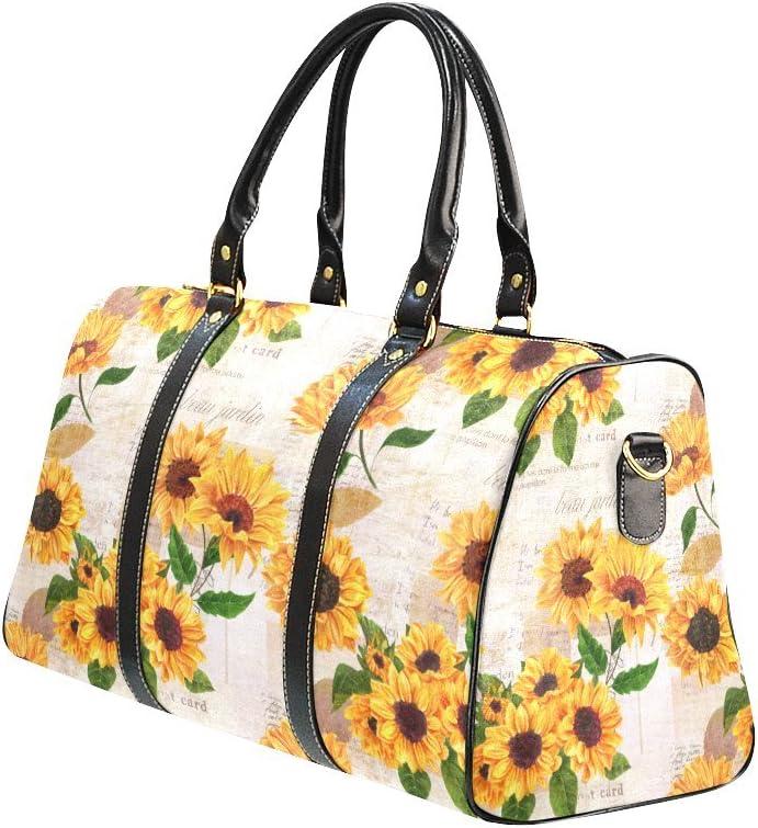 INTERESTPRINT Fun Vintage Love Heart Duffel Overnight Weekend Bag Travel Duffel Bag