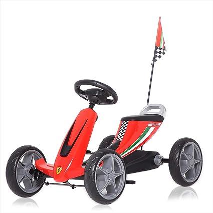 Ferrari Licencia Oficial Go Kart Pedales Coche de Pedales para Niños y Ruedas Deportes Juguete de