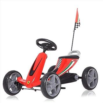 Ferrari Licencia Oficial Go Kart Pedales Coche de Pedales para Niños y Ruedas Deportes Juguete de Carreras en Ruedas de EVA de 3 - 6 Años en Rojo: ...