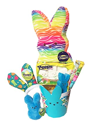 Amazon plush peeps easter basket gift 17 tie dyed rainbow plush peeps easter basket gift 17quot tie dyed rainbow plush bunny rainbow negle Gallery