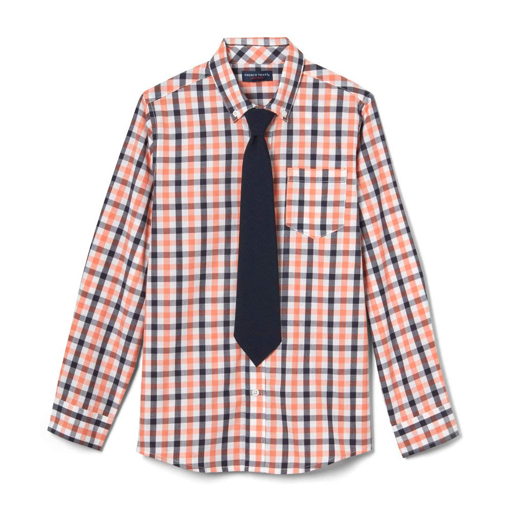 French Toast Boys Long Sleeve Dress Shirt with Tie