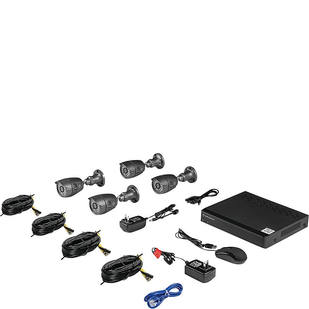 Amcrest 650 TVL 4CH Video Security System w/500GB - Four 650TVL Weatherproof IP66 Bullet Cameras (Black) (Certified Refurbished) by Amcrest (Image #2)