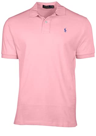 Polo Ralph Lauren Men Custom Fit Pony Logo T-Shirt (XS, Carmel Pink