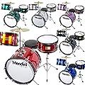 Mendini 3-Piece 16-Inch Junior Drum Set - MJDS-3 from Cecilio Musical Instruments