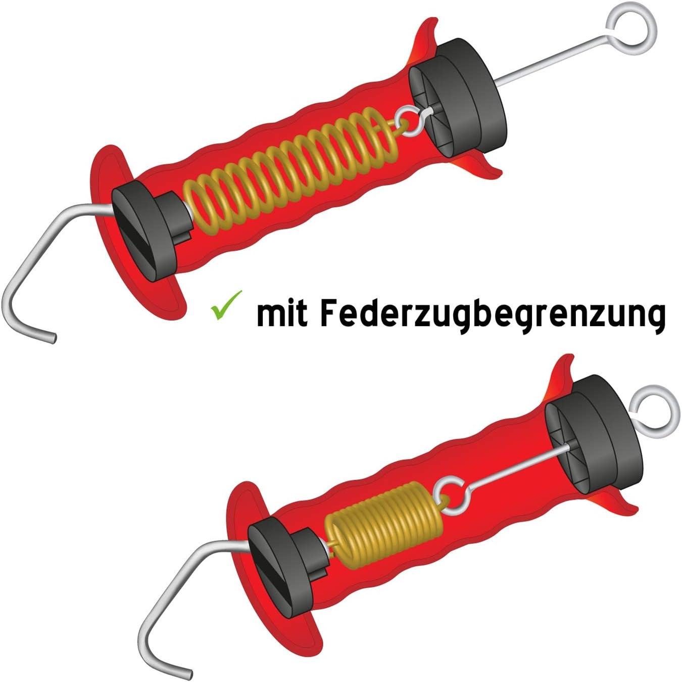 rojo Empu/ñadura para puerta pastor el/éctrico con gancho y muelle con limitador de tensi/ón