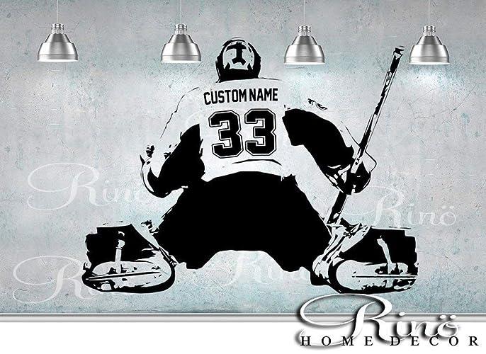 Hockey Goalie Decal Wall Art Custom Large Player Choose Jersey Name