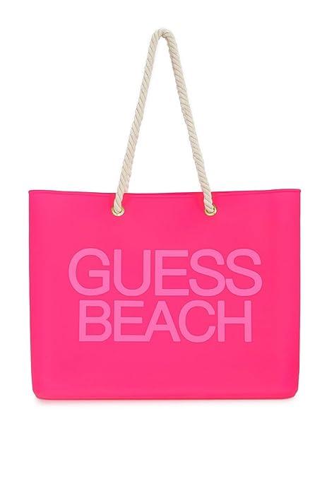 Bolso de playa GUESS Ladies, bolso PSICOTROPICAL, estampado de playa, silicona, 45x30x6cm