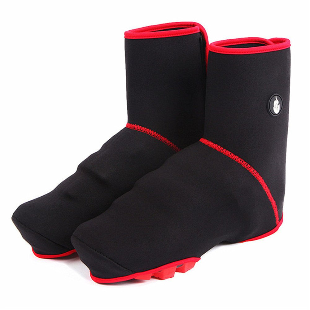 West Biking Winter Cycling Windproof Thermal Fleece Fabric Ultra-warm Shoe Covers Bicycle Bike Overshoes