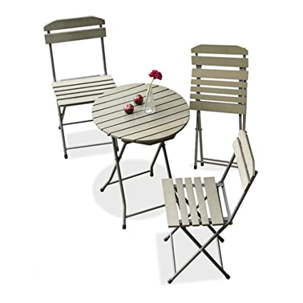 Amazon.com: KTYXDE Balcony Furniture Three-Piece Mini Combination ...