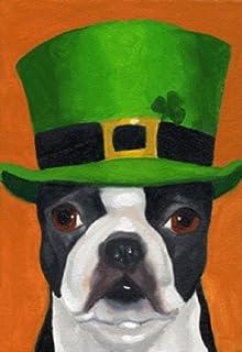 Irish Hat Dog St. Patricku0027s Day Garden Flag Shamrock Clover Green 12.