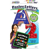 "ArtSkills 2.5"" Poster Letters and Numbers, A-Z and 0-9, Assorted, Holographic Colors, 216-Count (PA-1444)"
