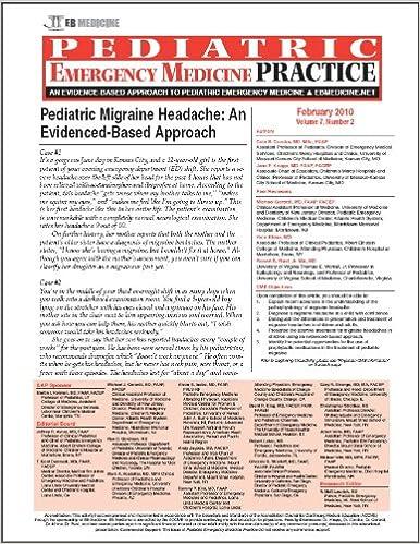 Pediatric Migraine Headache: An Evidenced-Based Approach