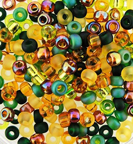 Miyuki Round Seed Beads Size 6/0 20g Earthtone Mix ()