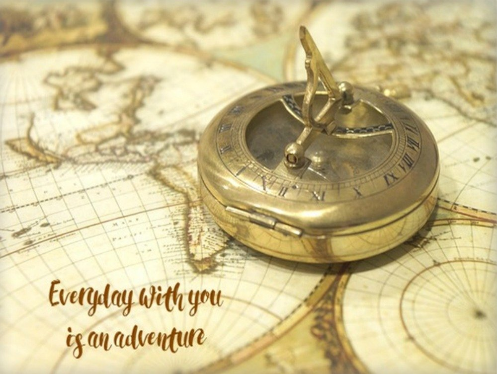 Romantic Compass Canvas Wall Art Decor Gift, Everyday With You, An Adventure, 30''x40'', Wedding, Anniversary, Husband, Wife, Boyfriend, Girlfriend by Designs by Tena T