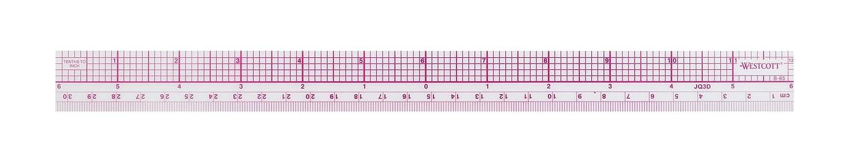Westcott 10ths/Metric Beveled Ruler, 12-Inch/30cm (B-65)
