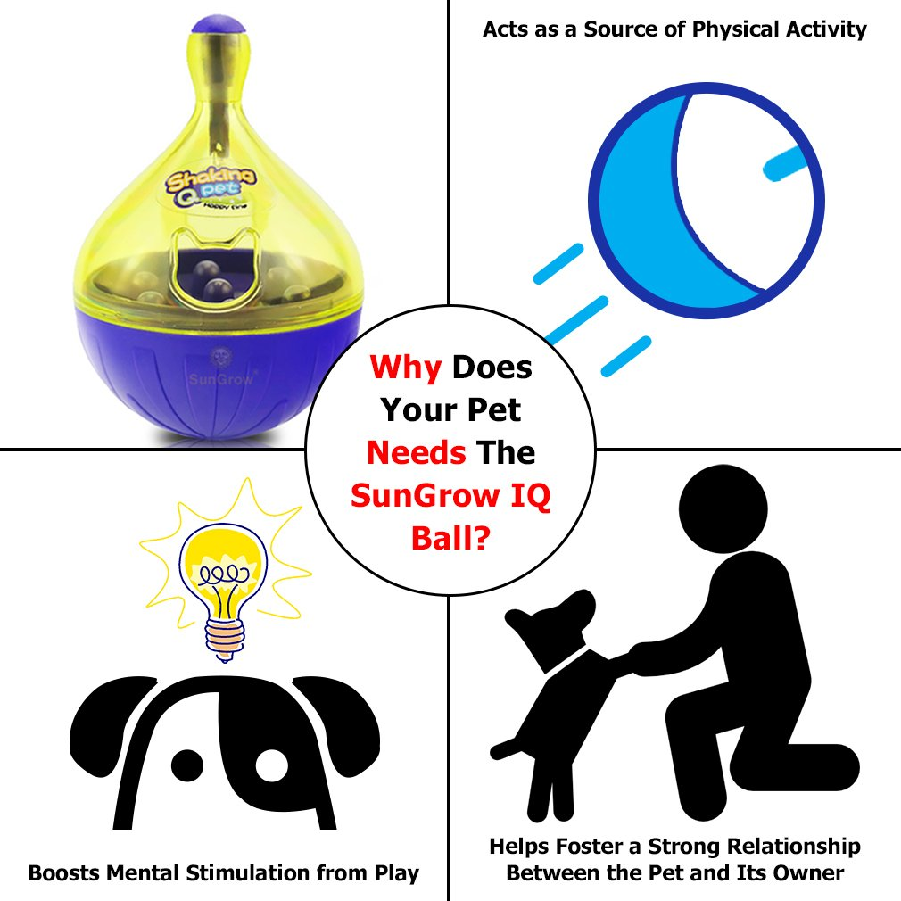 Food Dispensing Dog Ball - Fun, Interactive & IQ Stimulator with bell - Prevents overfeeding - Keeps puppies, small & medium pets active and physically fit - Perfect for Bulldog, Labrador and Spaniel7