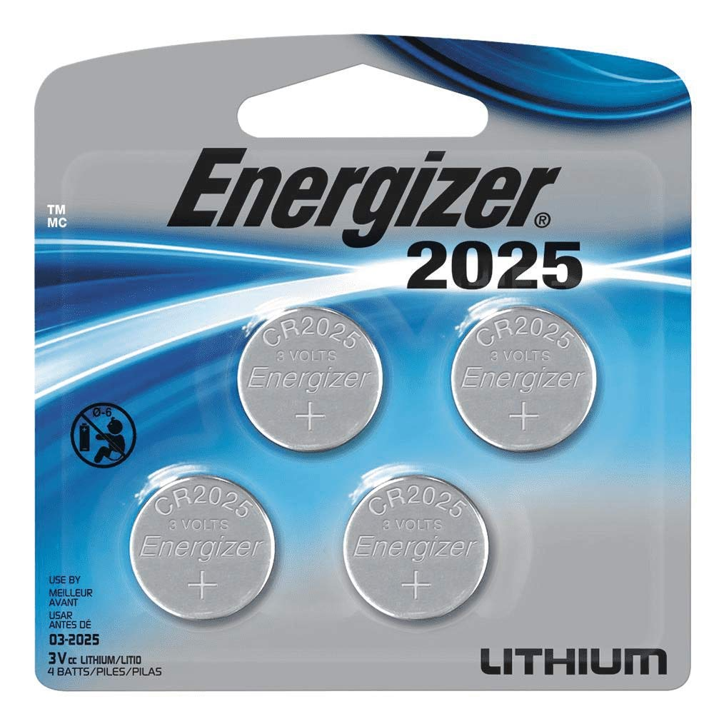 4Count Energizer 2025 Lithium Coin Cell Battery