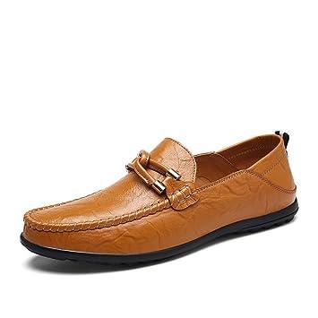 CAI Zapatos/Mocasines y Slip-Ons Genuinos para Hombre 2018 Zapatos New Peas Zapatos Grandes para Hombres de Gran Tamaño Oficina y Calzado Diario/de Viaje/de ...