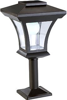 Au/ßenlampe, LED, Zaunleuchte, Wegeleuchte, 15 cm Sockelleuchte Au/ßen Solar Solarlampen Solarleuchte Garten Wei/ß