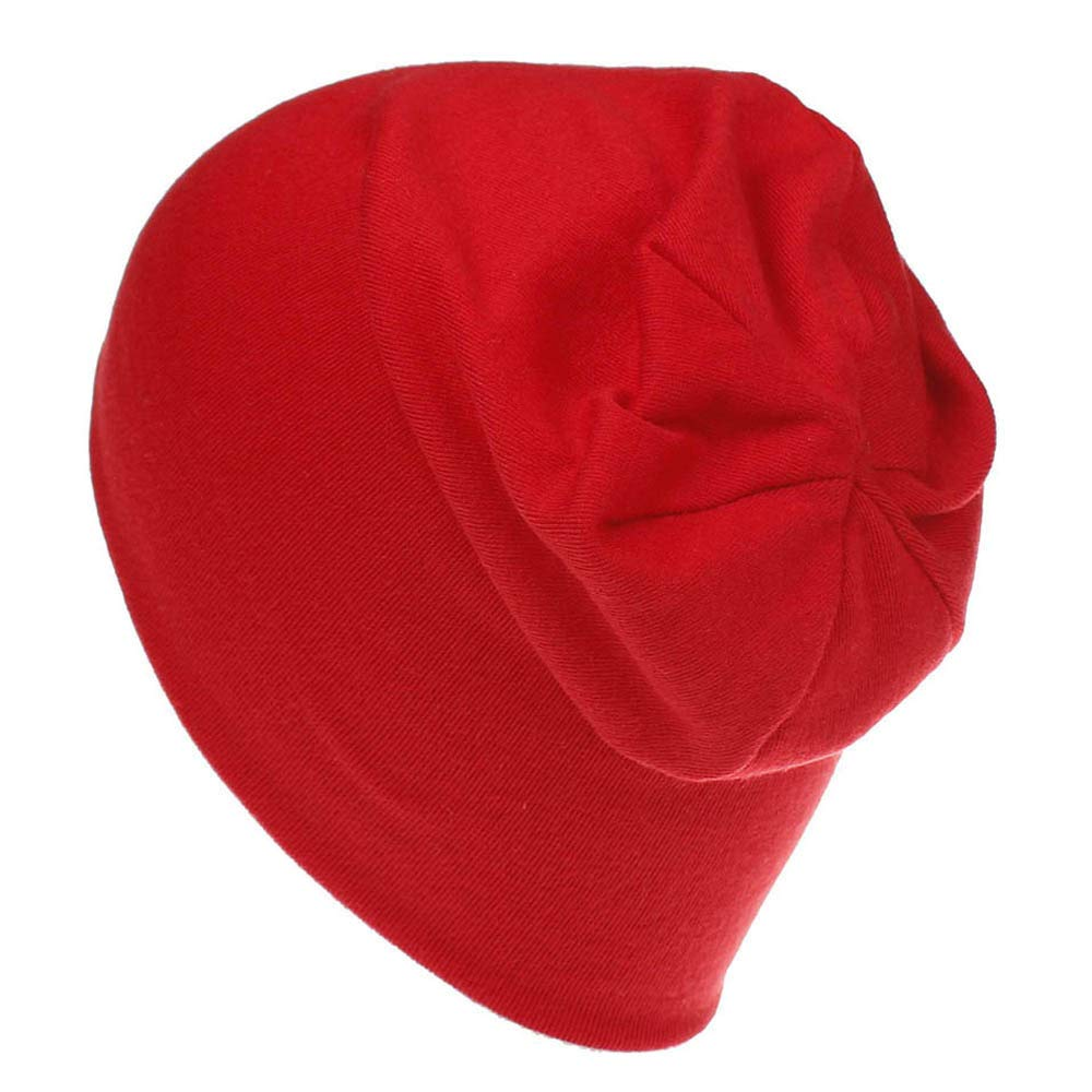 Mysky Sweet Toddler Kids Baby Popular Lovely Pure Color Comfortable Cotton Soft Hip Hop Hat Beanie Cap