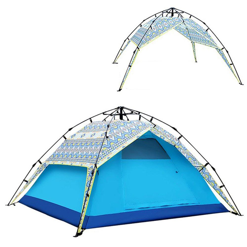 4 Person Camping Zelt Doppelschicht Zelt Automatisch Zelt Doppelschicht Im Freien Regendicht, Atmungsaktivität Für Strand Camping Wandern Höhlenforschung 2000-5000 mm e02184
