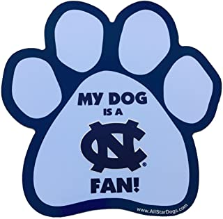 product image for NCAA North Carolina Tar Heels Paw Print Car Magnet